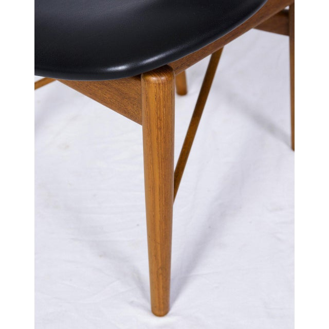 Blue Set of Six Finn Juhl NV 55 Dining Chairs For Sale - Image 8 of 10