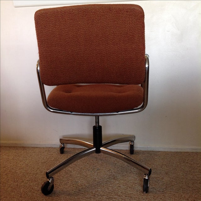 Orange Vintage Tweed Steelcase Office Chair For Image 8 Of 9