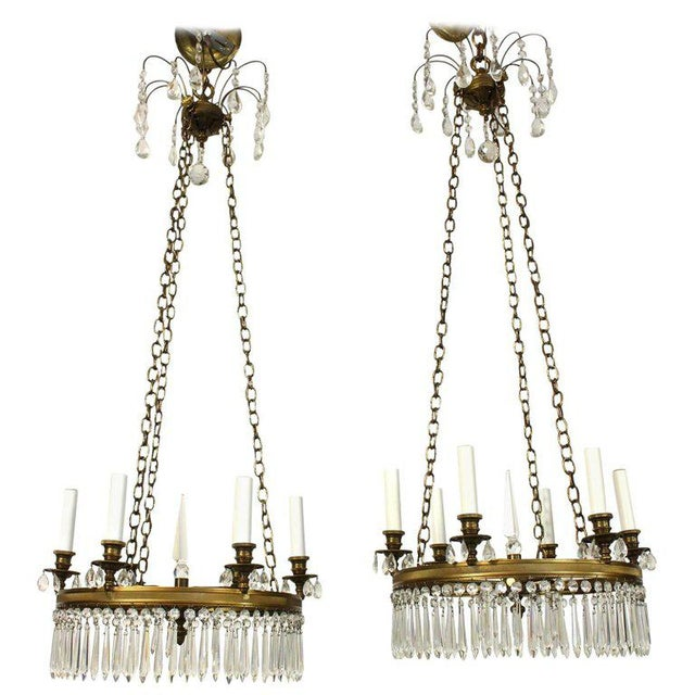 Pair of Regency Style Chandeliers For Sale In Richmond - Image 6 of 6
