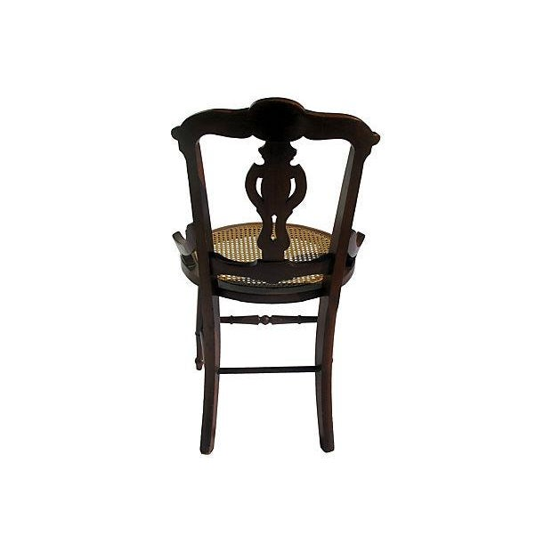 French Art Nouveau Style Chairs W/Cane Seats - S/4 - Image 3 of 7