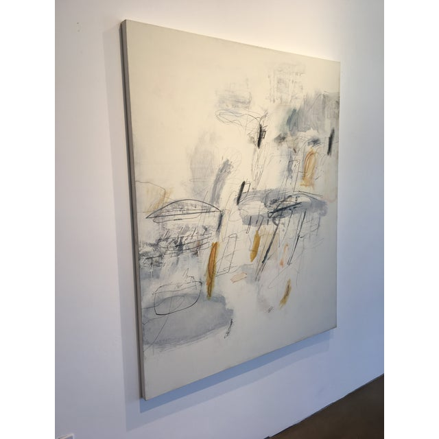 "Abstract Robert Kingston Abstract Painting ""Recuerdo"" For Sale - Image 3 of 11"