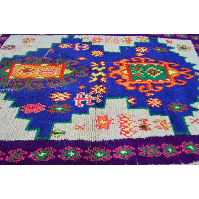 Boho Chic Moroccan Rug - 4'2'' X 5'6'' For Sale - Image 3 of 6