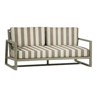 Summer Classics Avondale Teak Sofa in Westin Pebble For Sale