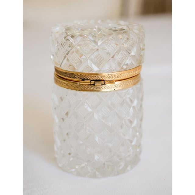 Antique French Cut Crystal Trinket Box For Sale In San Francisco - Image 6 of 10