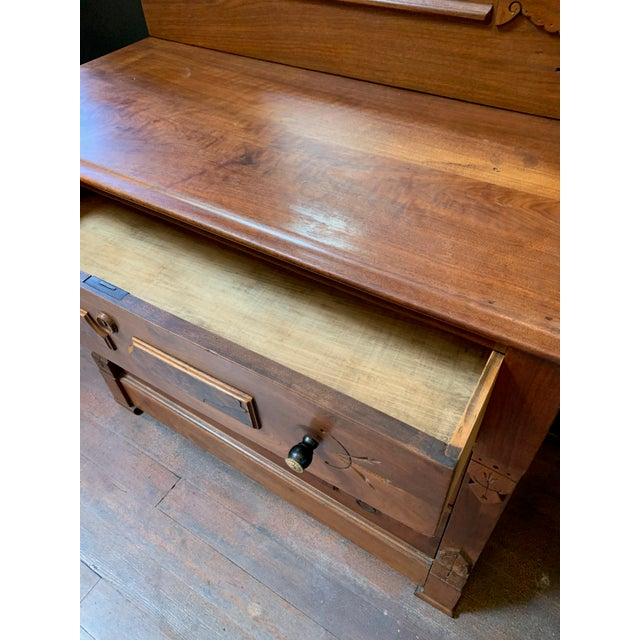 Vintage East Lake Dresser With Mirror For Sale In San Francisco - Image 6 of 7