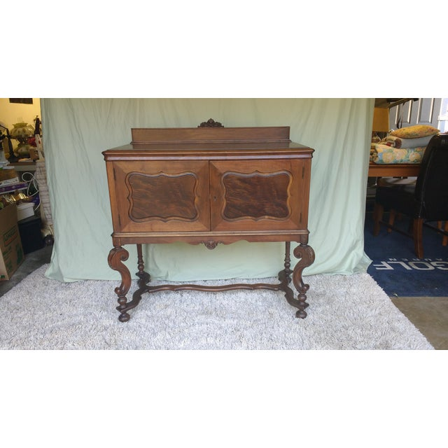 Antique Serpentine Sideboard Buffet - Image 10 of 10
