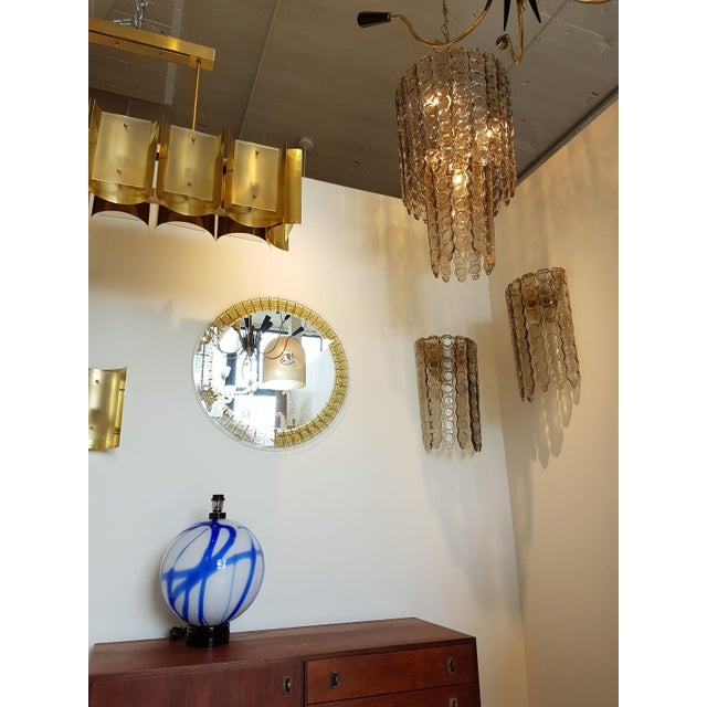 Gold Large Murano Smoked Glass Sconces Mid-Century Modern - a Pair For Sale - Image 8 of 9