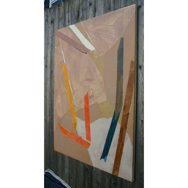 Mid-Century Modern Painted Paper Collage by Trevor Jones For Sale - Image 3 of 6