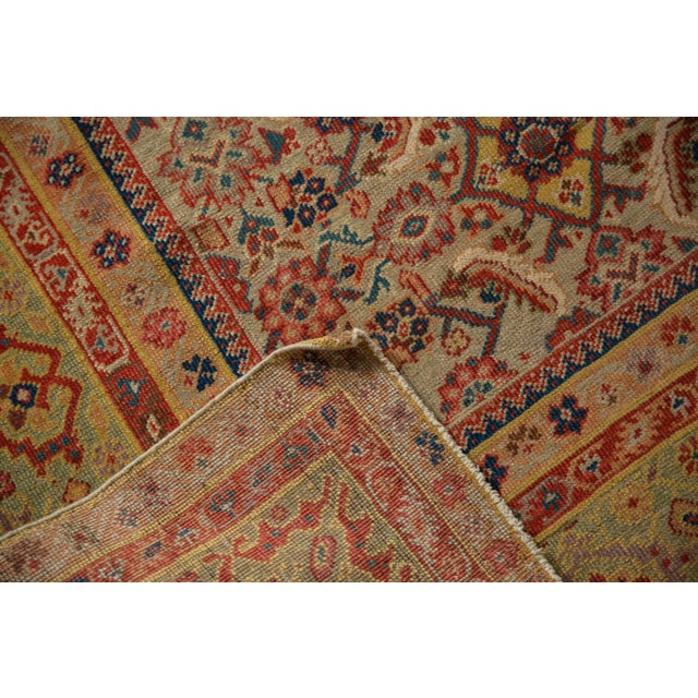 "Orange Antique Distressed Malayer Rug Runner - 6'5"" X 12'8"" For Sale - Image 8 of 13"
