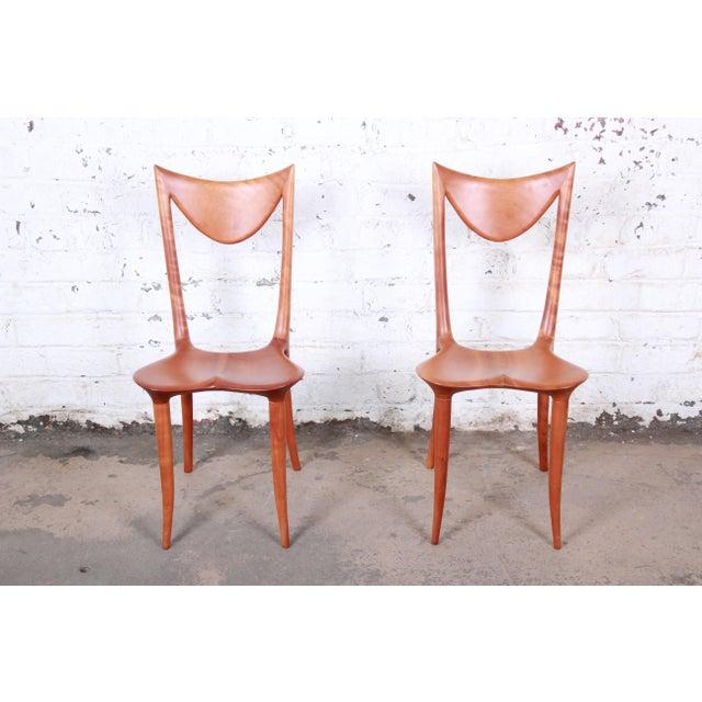 "Oskar Kogoj Studio Craftsman Sculptural ""Venetia"" Chairs - a Pair For Sale - Image 4 of 13"