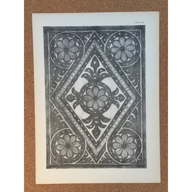 1906 English Photo-Tints, Charcoal Rubbings of Woodcarving - a Pair - Image 3 of 11