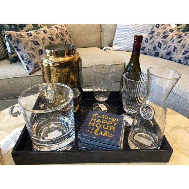 Contemporary Modern Acrylic Ice Bucket For Sale - Image 3 of 8