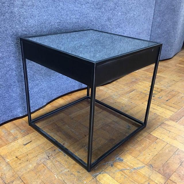 Restoration Hardware Gramercy Black Side Table