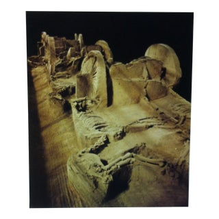 """Circa 1970 """"Ancient Royal Grave by Yellow River"""" National Geographic Society Journey Into China Print For Sale"""