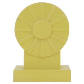 Ettore Sottsass Yellow Vase From the Yantra Series