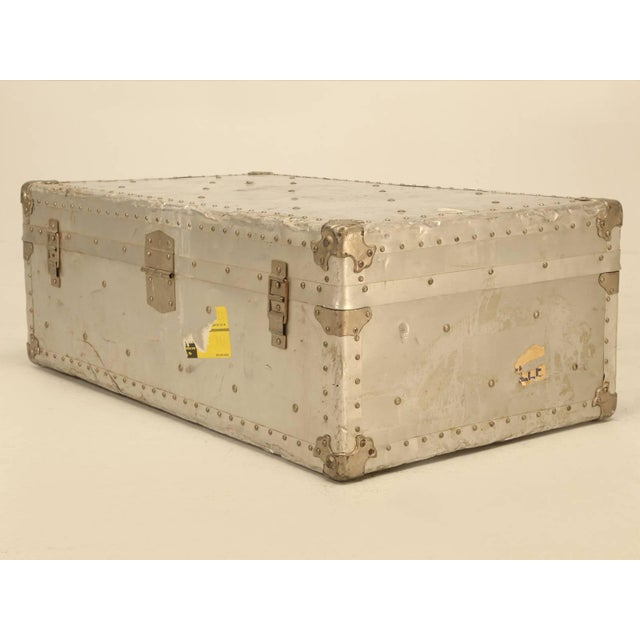 French Metal Trunk For Sale - Image 9 of 10