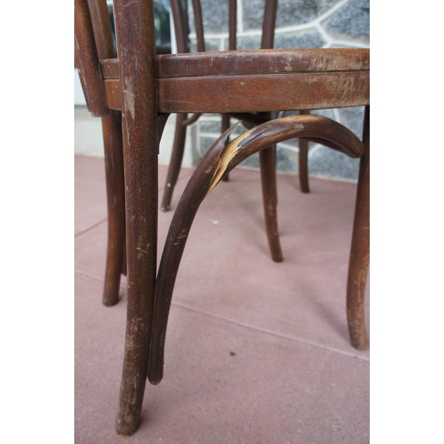1940s Antique Thonet Model 18 Cafe Chairs - Set of 4 For Sale - Image 11 of 13