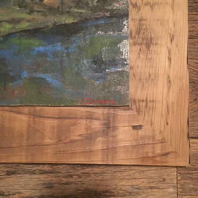 Royal Blue Upstate NY Landscape Painting For Sale - Image 8 of 8
