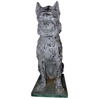 Antique Cast Iron and Zinc Dog Attributed to Fiske or Mott For Sale