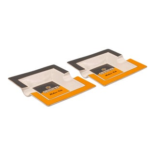 Cohiba Ceramic Cigar Ashtrays - a Pair For Sale