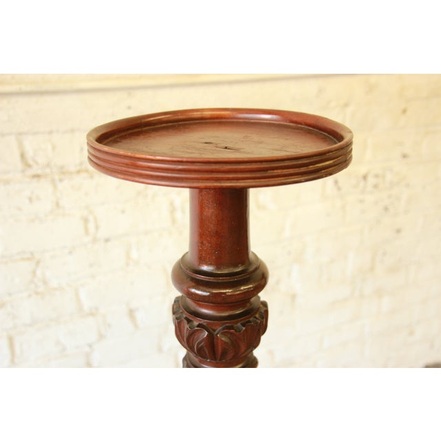 19th Century Carved Mahogany Plant Stands - a Pair For Sale In South Bend - Image 6 of 9
