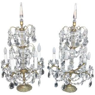 Pair of Crystal Geraldos For Sale