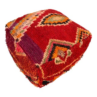 1980s Vintage Moroccan Pouf Cover For Sale