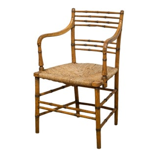 18th/19th C. Regency Faux Bamboo Armchair C.1790-1800 For Sale