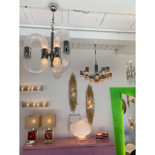 Chandelier Cubic by Sciolari, Italy, 1970s For Sale - Image 10 of 11