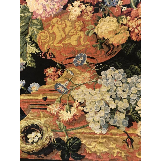 Large Vintage Hanging French Tapestry Wall Art For Sale - Image 4 of 11