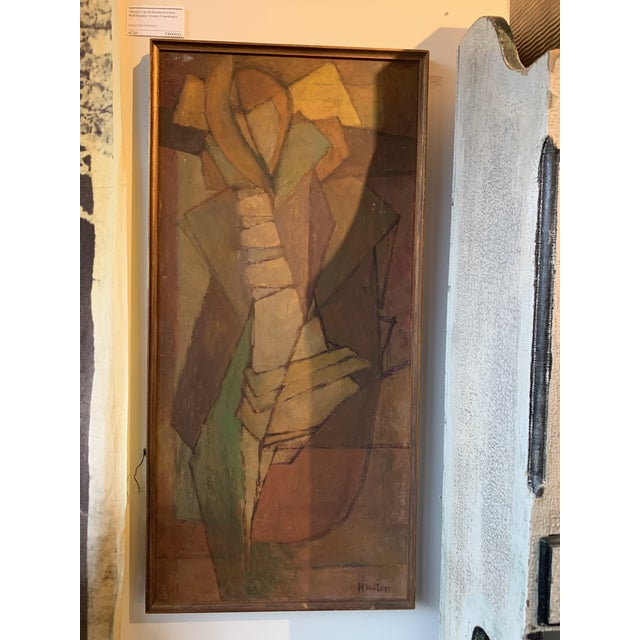 1950s 1950s Abstract Figure Janet Huston Painting NW Movement For Sale - Image 5 of 5