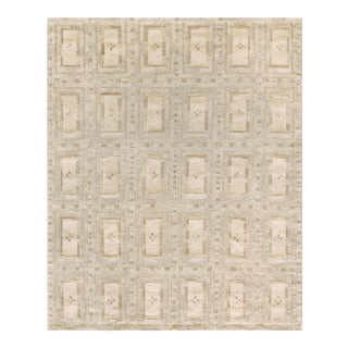 Mansour Hand-Woven Swedish Kilim Style Wool Rug For Sale