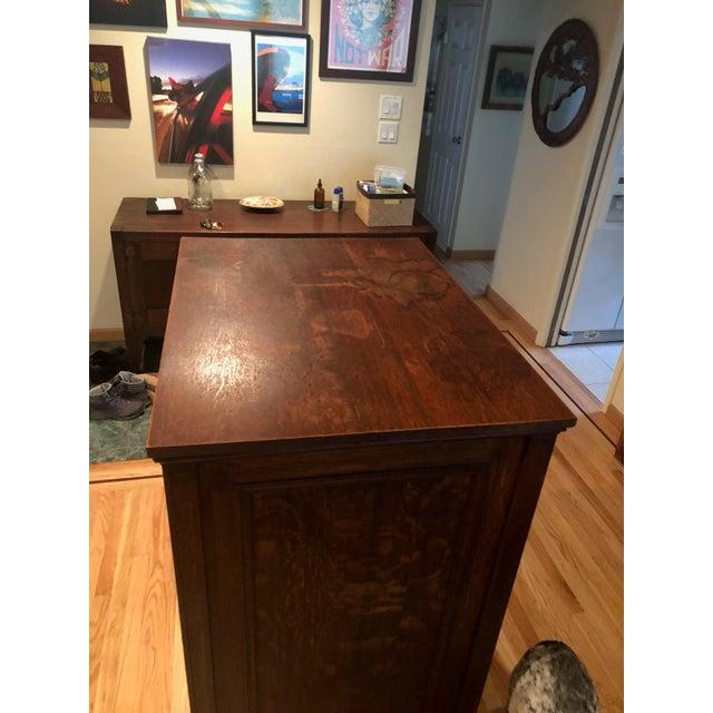 Antique Oak San Francisco City Tax Filing Cabinet For Sale - Image 9 of 11
