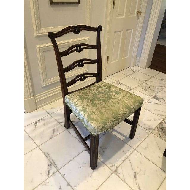 Chippendale Style Ribbon Back Dining Chairs - Set of 6 For Sale - Image 4 of 11