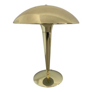 Mid-Century Vintage Brass Table Lamp For Sale