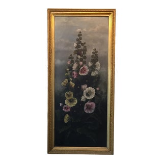 Hollyhock Painting For Sale