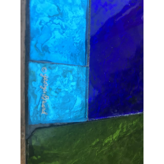Blue Mid Century Georges Briard Mosaic Glass Tables - a Pair For Sale - Image 8 of 12
