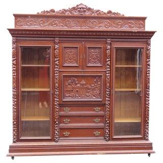 Monumental R.J. Horner Double Sided Bookcase Abbatant Desk For Sale