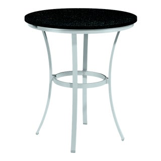 "36"" Round Café Outdoor Bar Table, Charcoal For Sale"