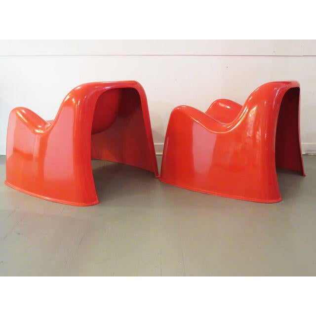 Vintage Artemide Red Toga Chairs - A Pair - Image 5 of 9