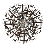Image of Mid-Century Modern Brutalist Sunburst Wall Sculpture For Sale