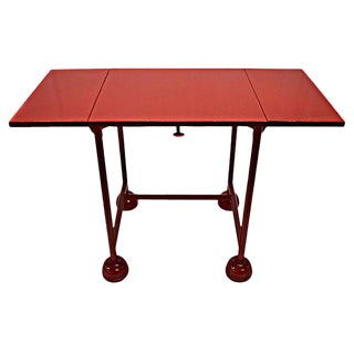Red Industrial Typewriter Table