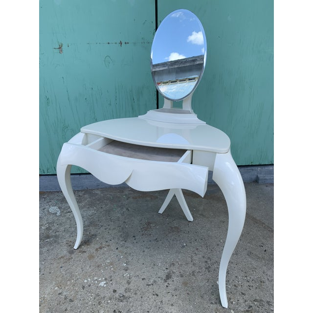 Art Nouveau Christopher Guy Vanity Fair Dressing Table & Stool For Sale - Image 3 of 13