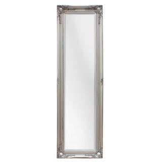 Antique Maissance Silver Full Length Mirror For Sale