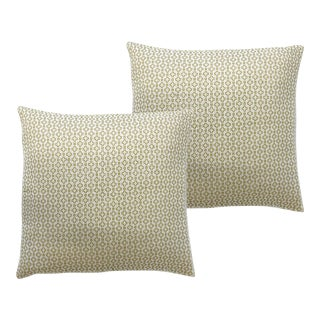 Altamount Road Parrot Green Pillowcases - a Pair For Sale