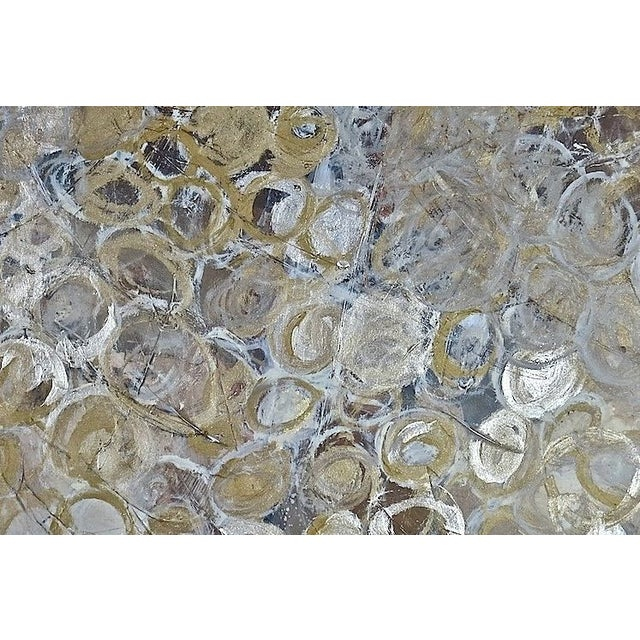 Gold & Silver Circles Painting - Image 2 of 2