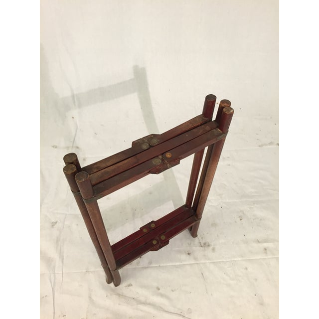 Antique Chinese Two-Tier Folding Table with Brass For Sale - Image 7 of 8