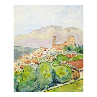 Vintage French Watercolor - Provence, France