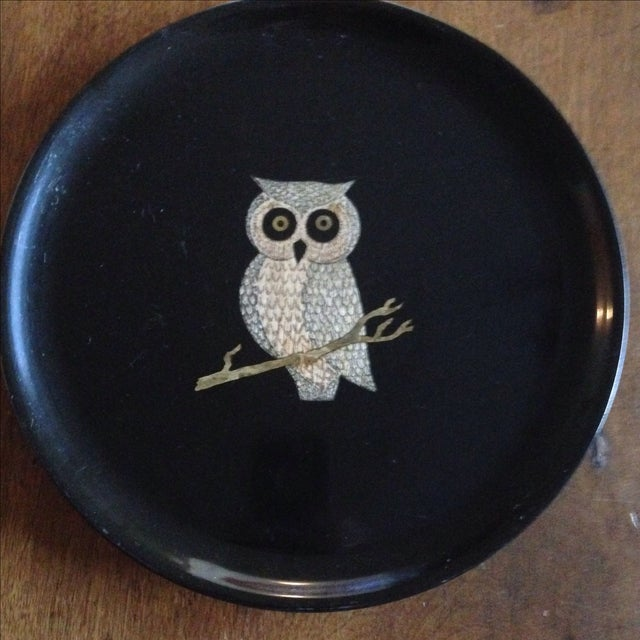 Vintage Couroc of Monterey Owl Tray For Sale - Image 10 of 11