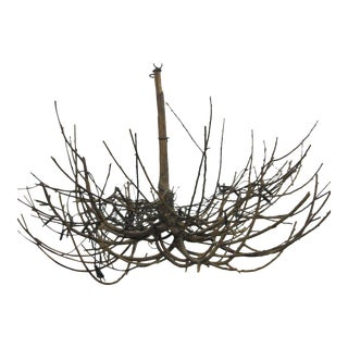 French Mid-Century Modern Craftsman 'Twig' Chandelier